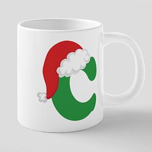 Christmas Letter C Alphabet Mugs