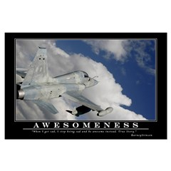Awesomeness Motivational Poster - Posters