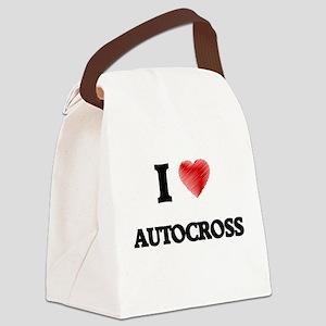 I Love Autocross Canvas Lunch Bag