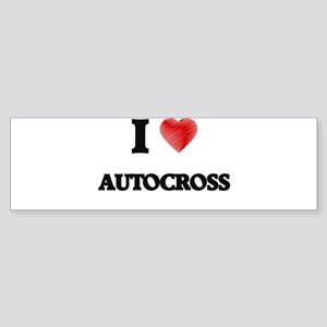I Love Autocross Bumper Sticker