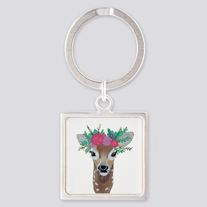 Fawn with Flower Crown Keychains