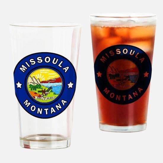 Cute Missoula montana Drinking Glass
