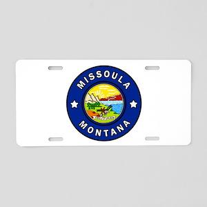 Missoula Montana Aluminum License Plate