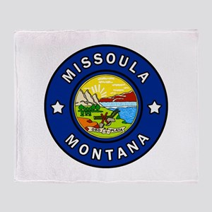 Missoula Montana Throw Blanket