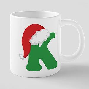 Christmas Letter K Alphabet Mugs