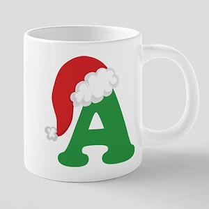 Christmas Letter A Alphabet Mugs