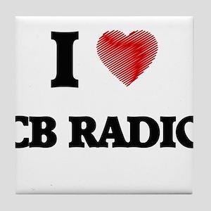 I Love Cb Radio Tile Coaster