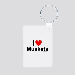 Muskets Aluminum Photo Keychain