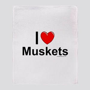 Muskets Throw Blanket