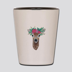 Fawn with Flower Crown Shot Glass