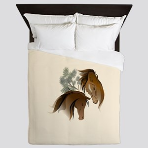 Equine Woods Queen Duvet