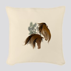 Equine Woods Woven Throw Pillow