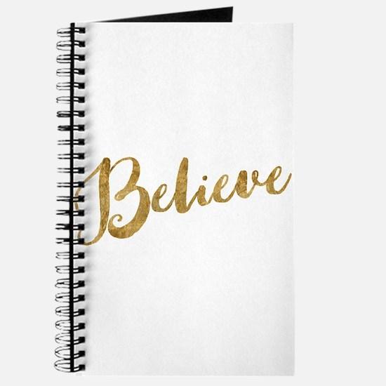 Gold Look Believe Journal
