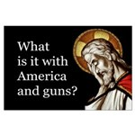 Large Poster - America And Guns