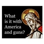 Small Poster - America And Guns