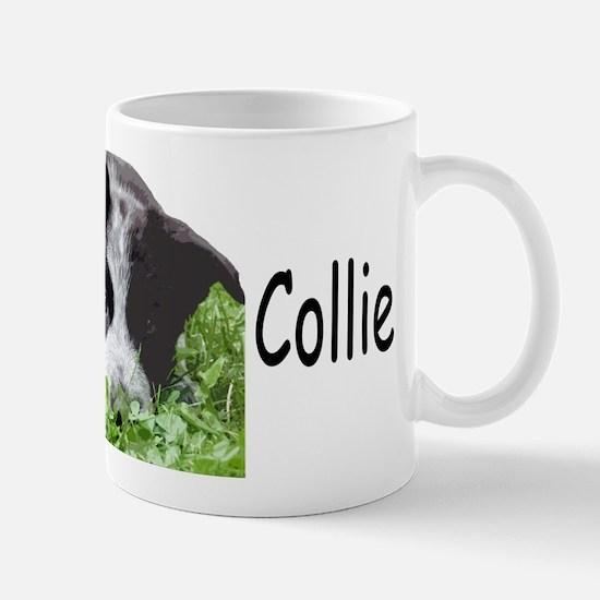 border collie albert grass Mugs
