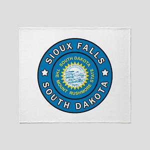 Sioux Falls South Dakota Throw Blanket