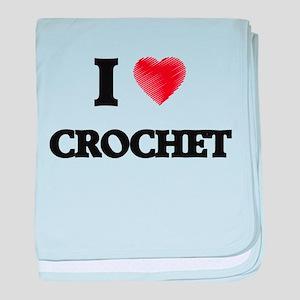 I Love Crochet baby blanket