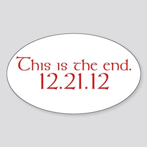 The End Oval Sticker