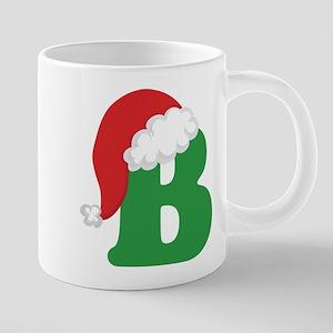 Christmas Letter B Alphabet Mugs