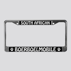 South African Boerboel License Plate Frame