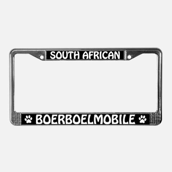 South African Boerboel License Plate Frame