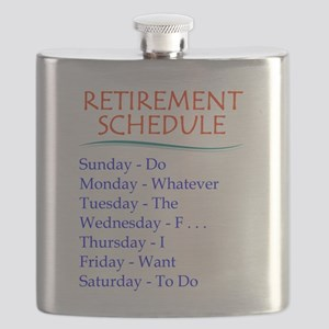 Retirement Schedule Gifts for Retirement Flask