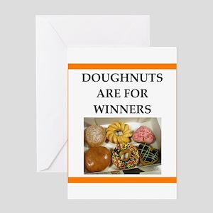 winning doughnut Greeting Cards