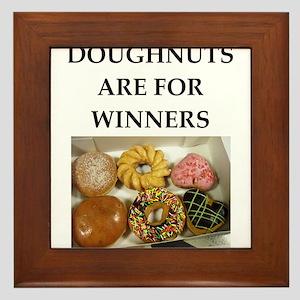 winning doughnut Framed Tile