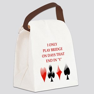 duplicate bridge Canvas Lunch Bag