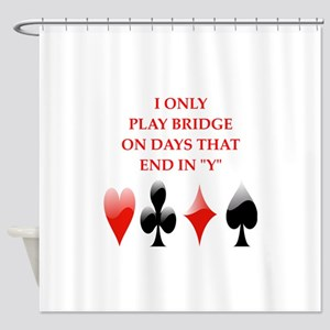 duplicate bridge Shower Curtain