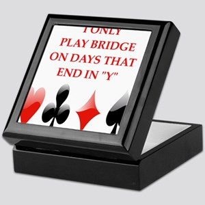 duplicate bridge Keepsake Box