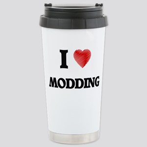 I Love Modding Stainless Steel Travel Mug