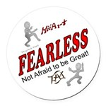 Fearless Round Car Magnet