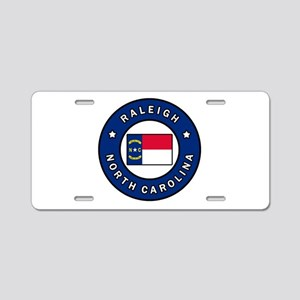 Raleigh North Carolina Aluminum License Plate