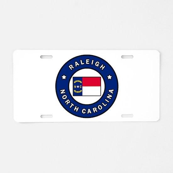 Raleigh North Carolina Aluminum License Plate