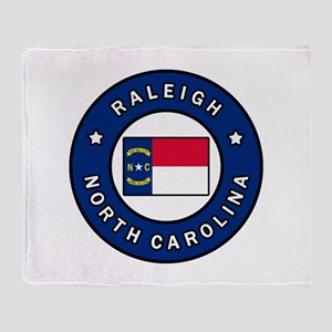 Raleigh North Carolina Throw Blanket