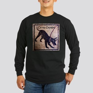 """Cave Canem"" Long Sleeve Dark T-Shirt"