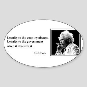 Twain on Loyalty Oval Sticker