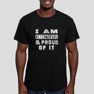 I Am Connecticuter Men's Fitted T-Shirt (dark)
