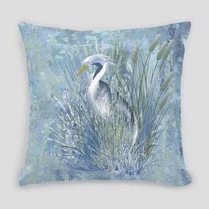 Heron Elegance Everyday Pillow