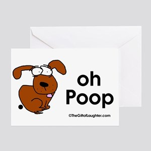 DoggieBIg oh Poop Greeting Cards