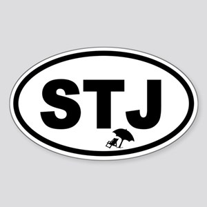 St. John's STJ Beach Chair Oval Sticker