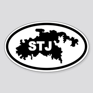 St. John's STJ Map Oval Sticker