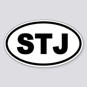 Basic St. John's STJ Oval Sticker