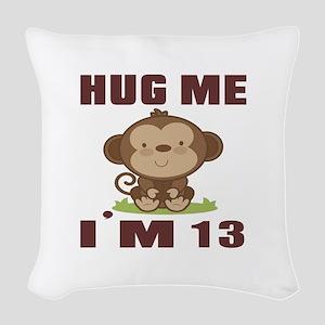 Hug Me I Am 13 Woven Throw Pillow