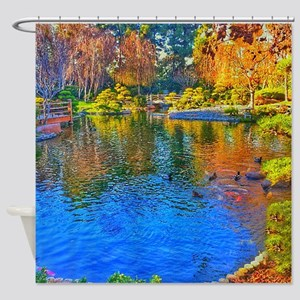 Painted Pond Shower Curtain