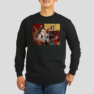 Santa's white EBD Long Sleeve Dark T-Shirt