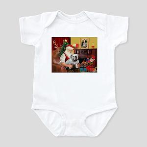 Santa's white EBD Infant Bodysuit