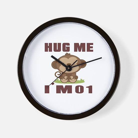 Hug Me I Am 01 Wall Clock